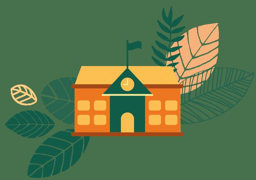 illustration school ecologic